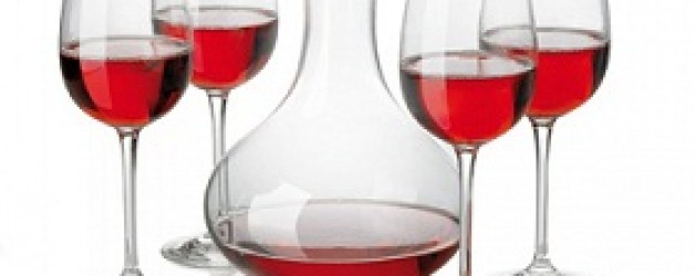 Set vino con decanter e bicchieri
